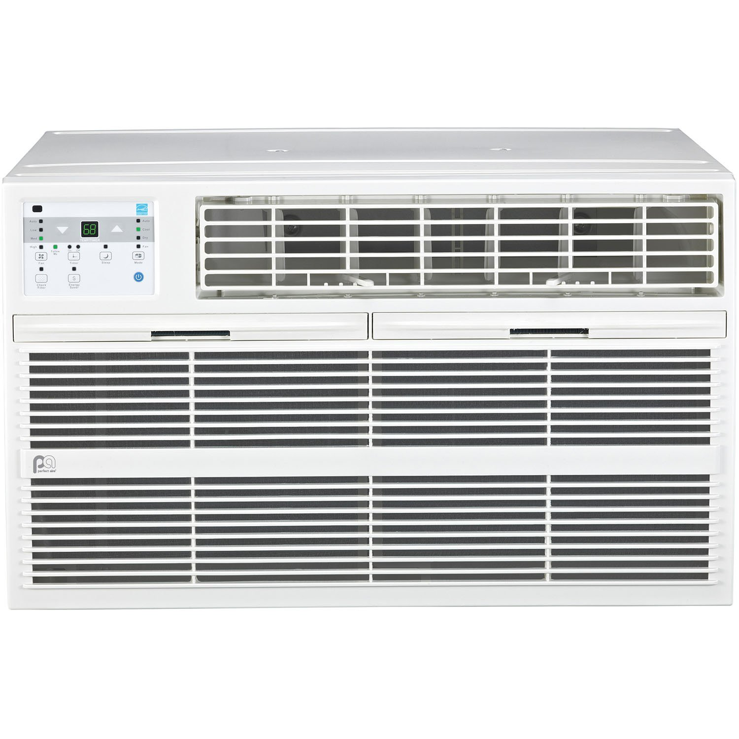 Perfect Aire 4PATW10002 10,000/9,800 BTU Thru-the-Wall Air Conditioner with Remote Control, EER 10.6, 400-450 Sq. Ft. Coverage