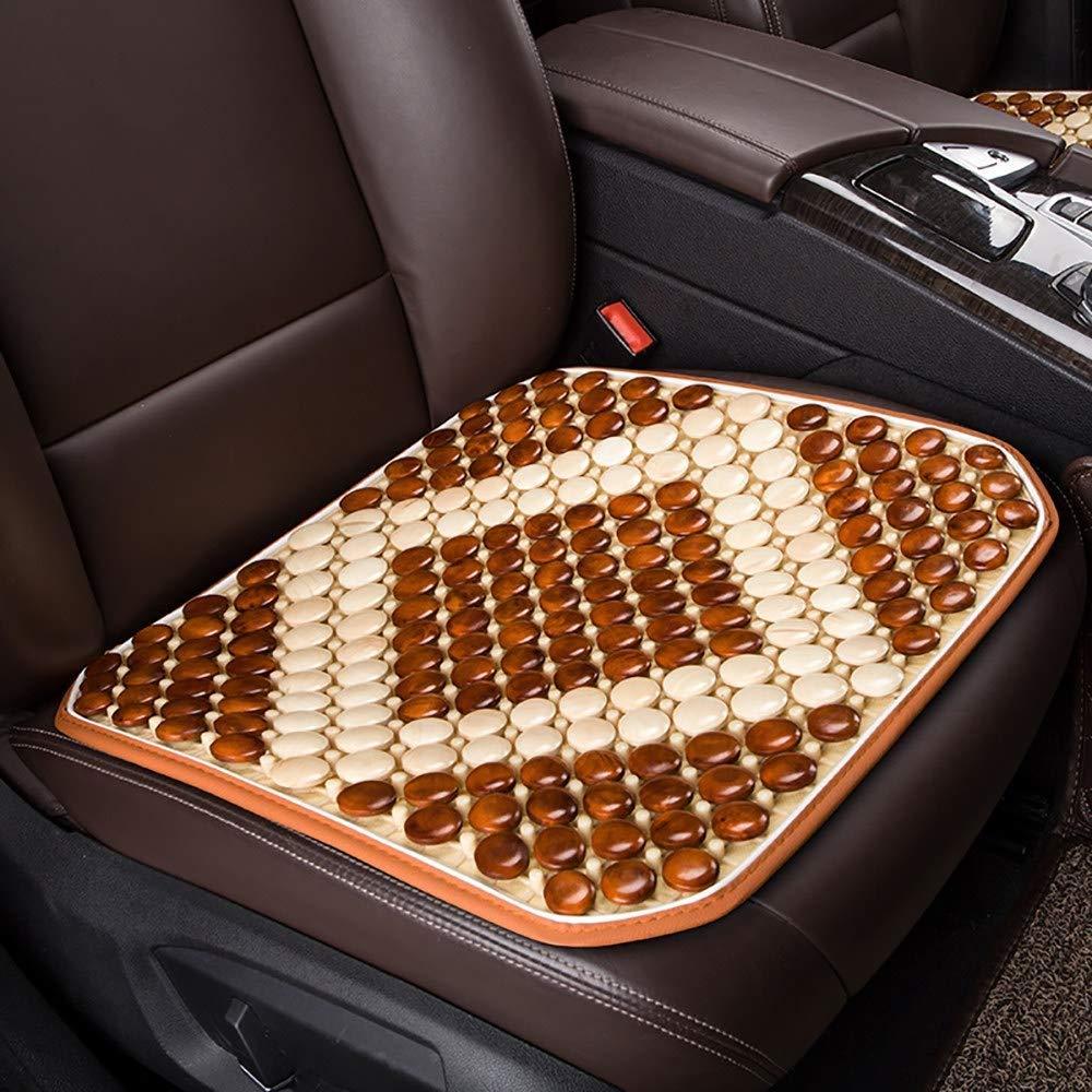 Lqqzq Cushion Summer Car Seat, Wooden Beads Four Seasons Universal Car Seat Cushion Cushion (Color : B)