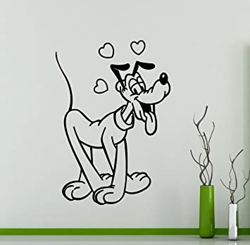 482xx Pluto Wall Sticker Mickey Mouse Cartoon Disney Vinyl Decal Home Kids Girl Nursery Room Interior Decor Waterproof High Quality Mural