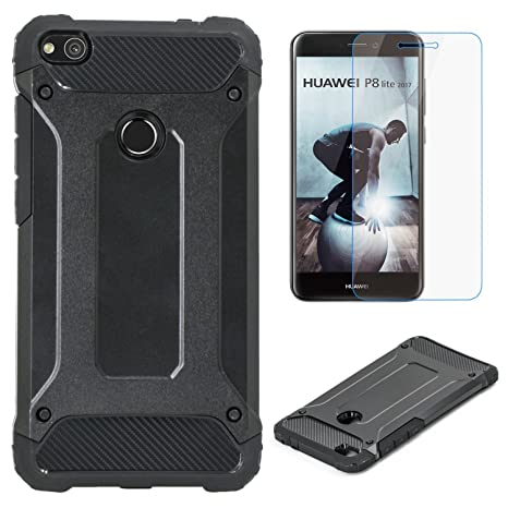 Electro-weideworld Huawei P8 Lite 2017 Funda, [Pesada] [Doble Capa ...