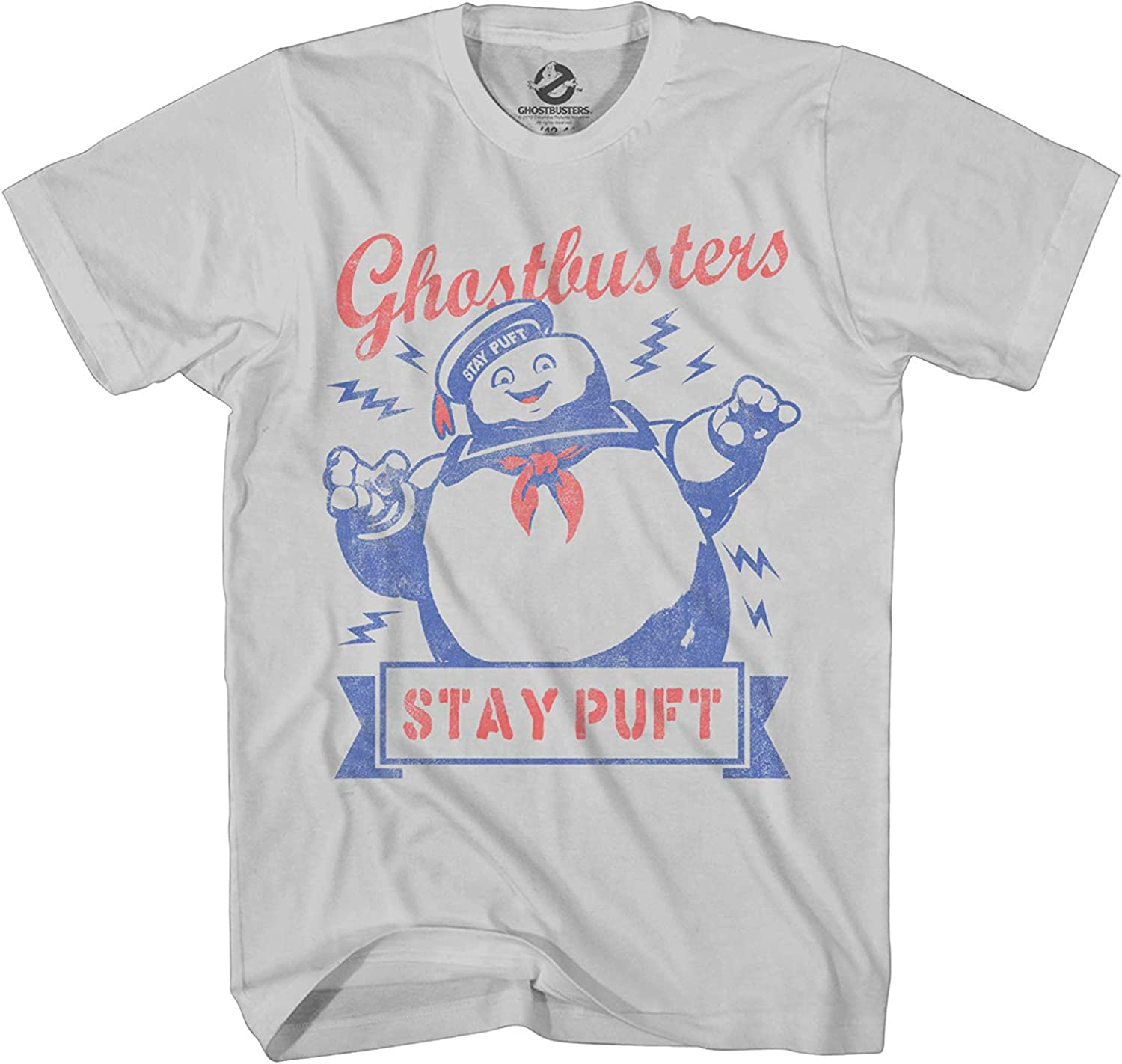 Ghostbusters Mens Stay Puft Shirt Stay Puft Logo Tee Shirt Graphic T-Shirt