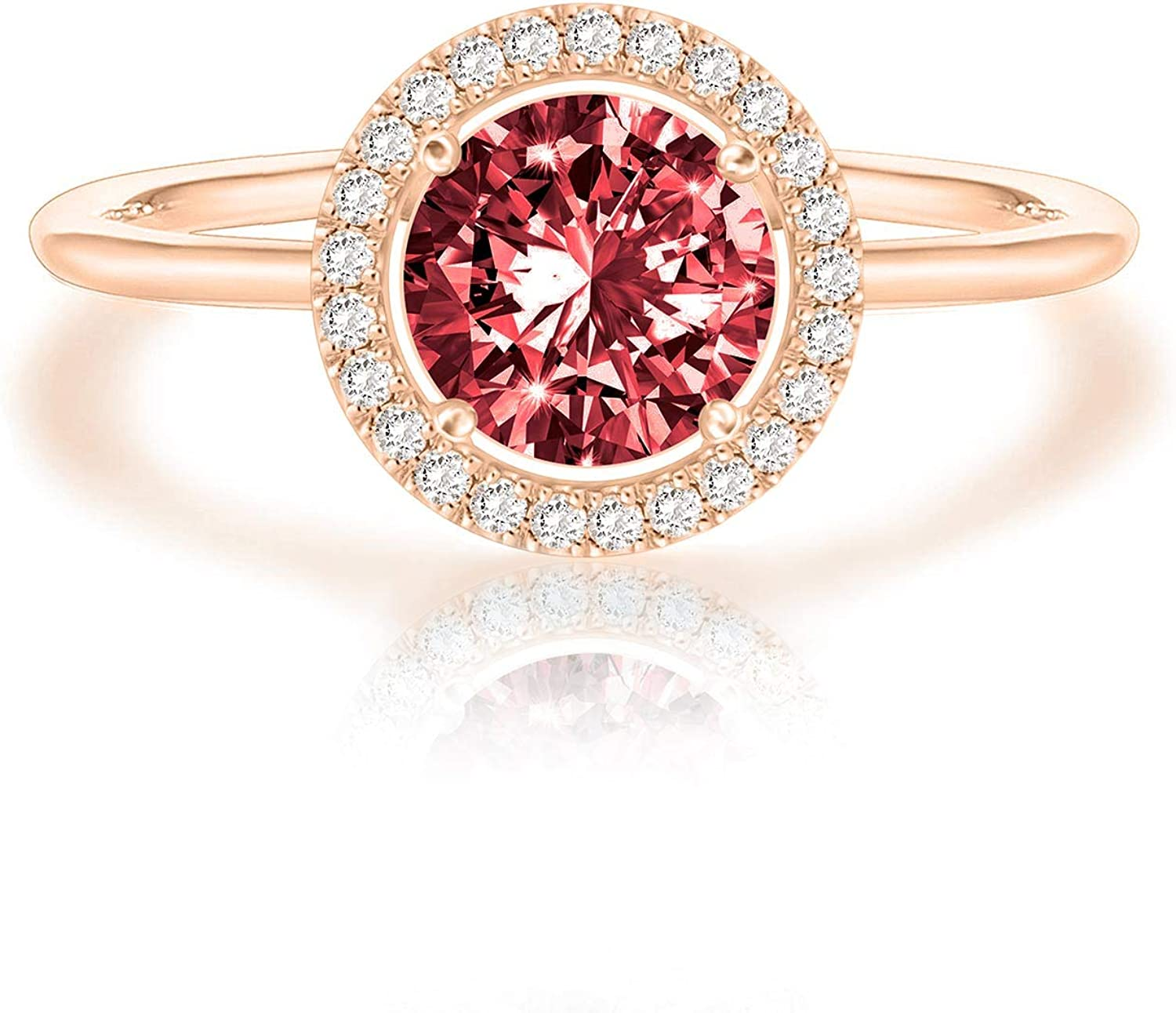 Pink Ring rose gold filled solitaire Mothers Ring Classic Rose Gold Filled Ruby Ring gold band July Birthstone solitaire ring