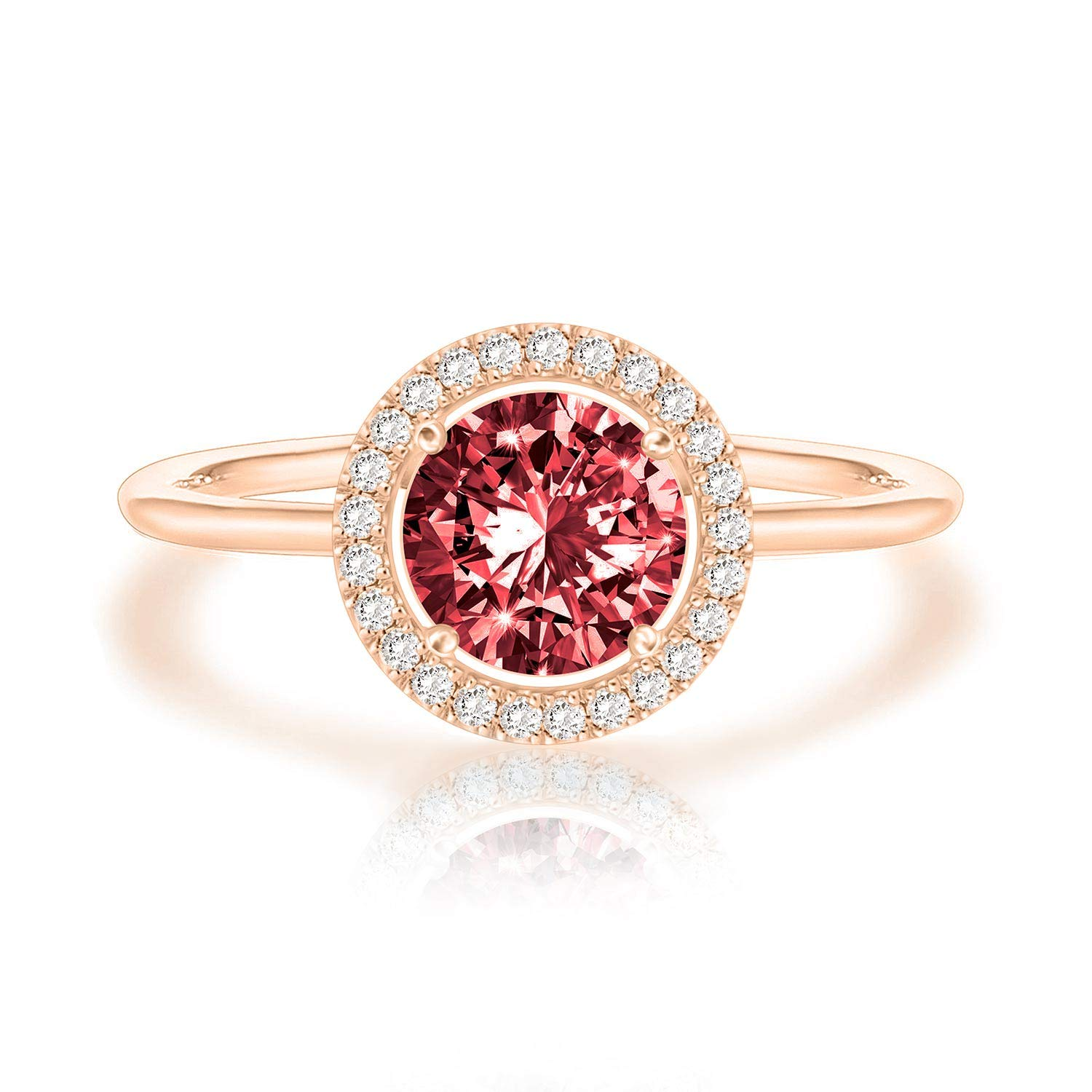 35cd474271459 Swarovski Crystal 14K Rose Gold Plated Birthstone Rings | Rings for Women