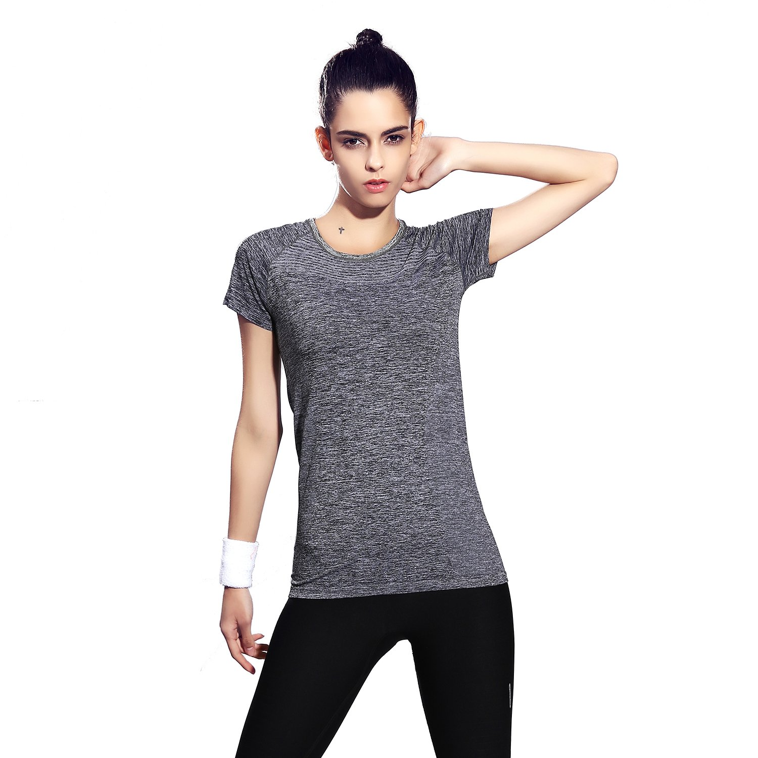 Amazon.com : HOTER Fitness Shirt Dry Fit Base Layer Yoga ...
