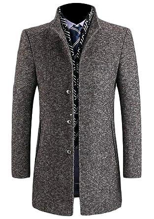 Amazon.com: Wofupowga - Chaqueta de lana para hombre: Clothing