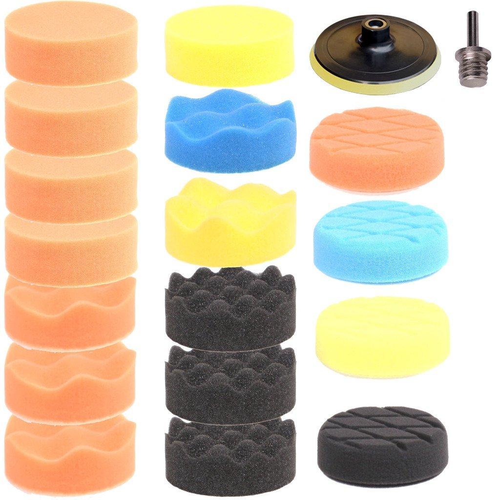 durable service SPTA 19tlg 80mm schwamme polir et schwamme + Assiette + polir et fourrure Fur Ponceuse Polisseuse -- M14filetage