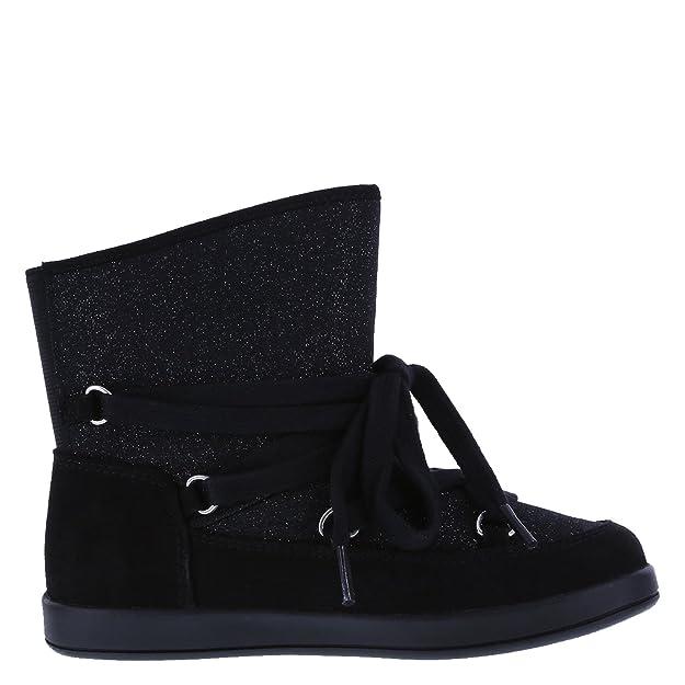 29203888ee80 Amazon.com: Airwalk Girls' Black Glitter Girls' Glitter Pixie Lace-Up Boot  1 Regular: Shoes
