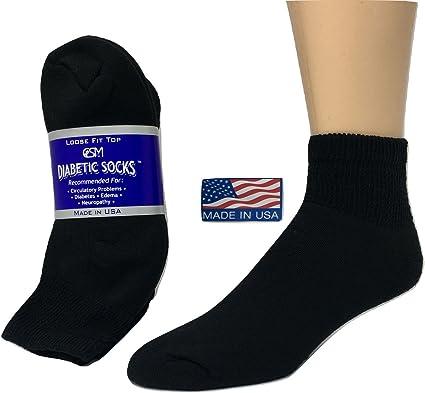 Ultra Soft Creswell Women  Diabetic Crew Socks  12 Pairs White//Black.