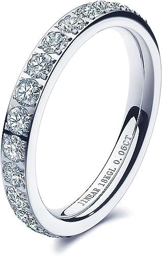 Jinear Women Wedding Bands 3mm Engagement Rings For Women 18k Gold