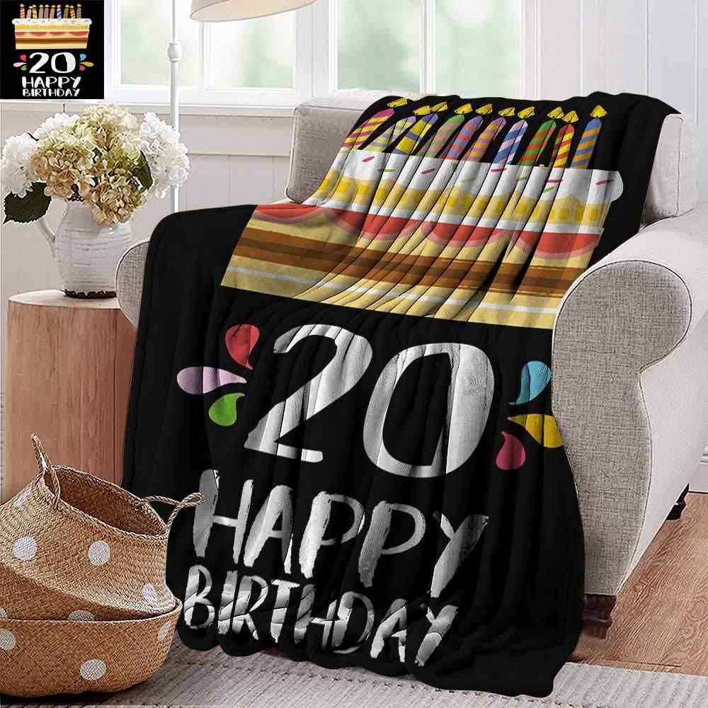 XavieraDoherty ウェアラブルブランケット 20歳の誕生日 スイートな20のサプライズパーティーテーマ 抽象的な背景画像 Vemilion ホットピンク 300GSM スーパーソフトで暖かい 丈夫 70