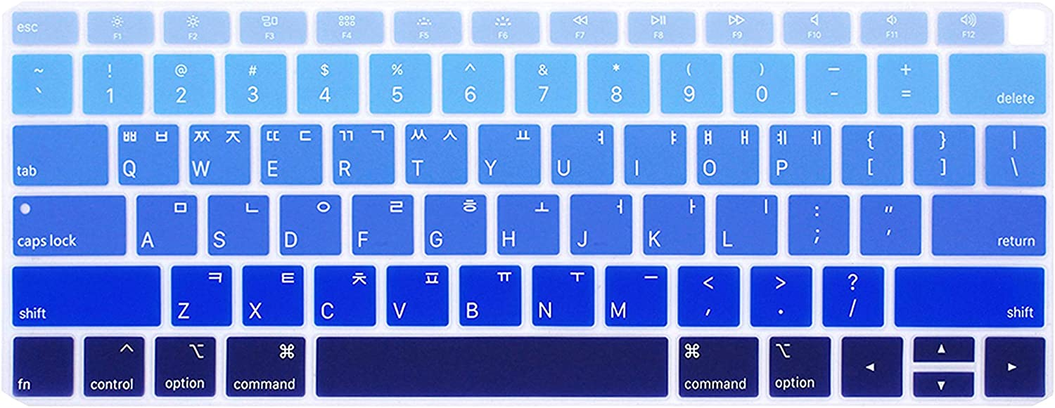 Purple Korean Keyboard Cover Protective Film for MacBook Air 13 Inch with Touch Id A1932 Notebook Keyboard Cover Silicone Us Key