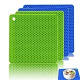 Ankway Profi Silikon Topfuntersetzer / Topflappen multifunktional und langlebig 4 Stück
