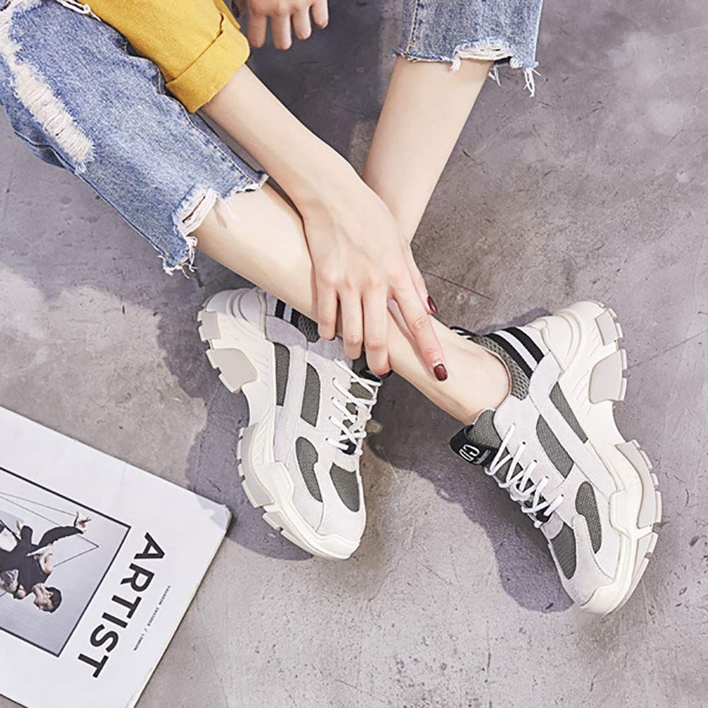 Women's Shoes Fashion Breathable Sneaker Comfort Rubber Mesh Sneakers Rubber Comfort Non-Slip Impact Resistant Trainers Shoes Camping Gym Park (Color : A, Size : 37) B07HKXVTQG Fashion Sneakers 5f5b57