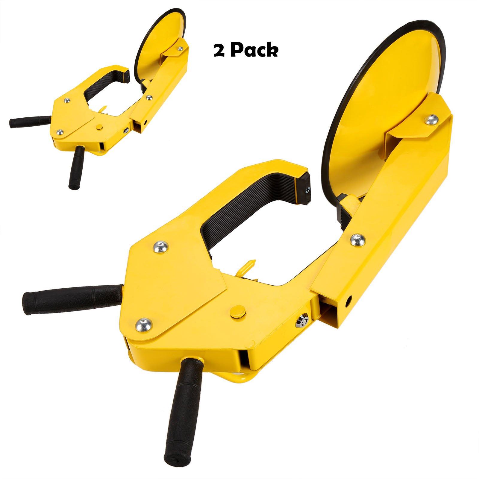 Oanon Wheel Lock Clamp Boot Tire Claw Auto Car Truck ATV, RV, Boat Trailers Heavy Duty Secure (2 Pack)