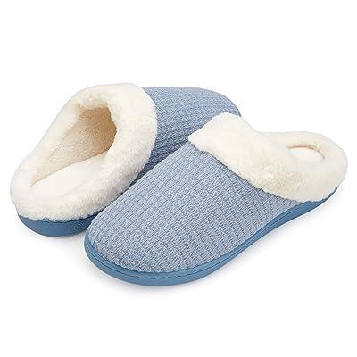Amazon.com | ANLUKE Women's House Slippers Soft Cotton Knitted Memory Foam Slip on Winter Shoes | Slippers