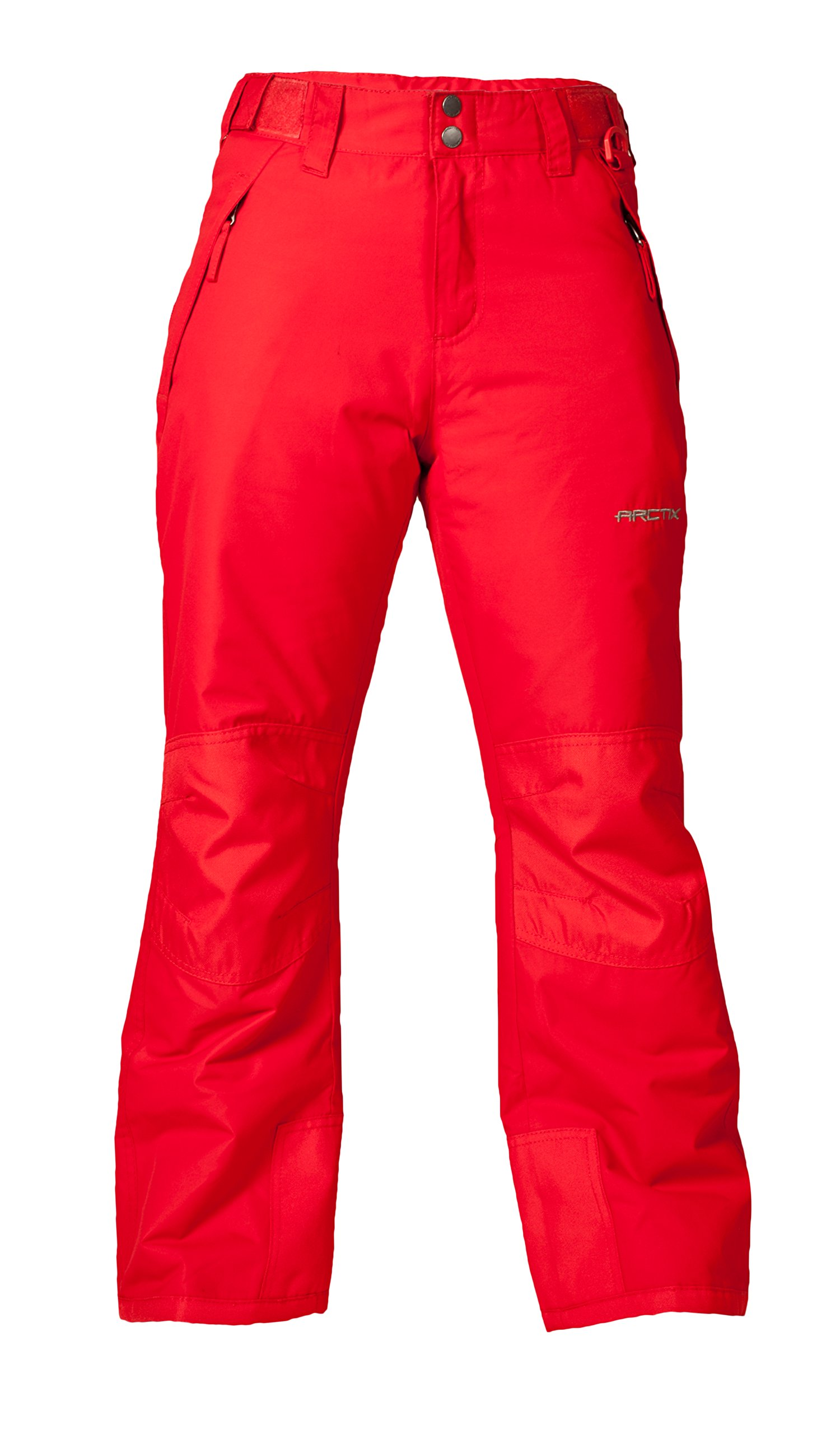 Arctix Youth Snow Pants with Reinforced Knees and Seat, Formula Red, X-Small