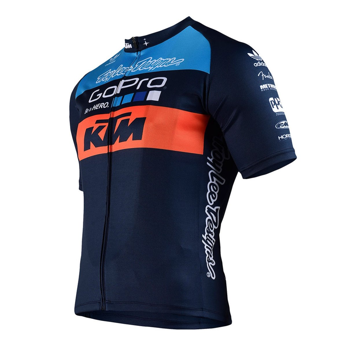 Troy Lee Designs KTM チーム メンズ ジップアップ 自転車 ジャージ ネイビーブルー/オレンジ MD   B01L0JNLIC