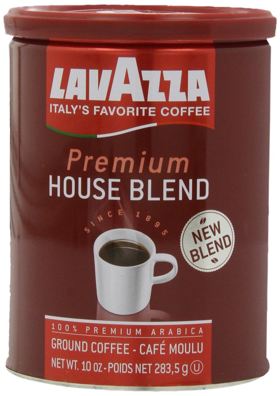 Lavazza Premium House Medium Roast  Blend Coffee, 10-Ounce (Pack of 4)