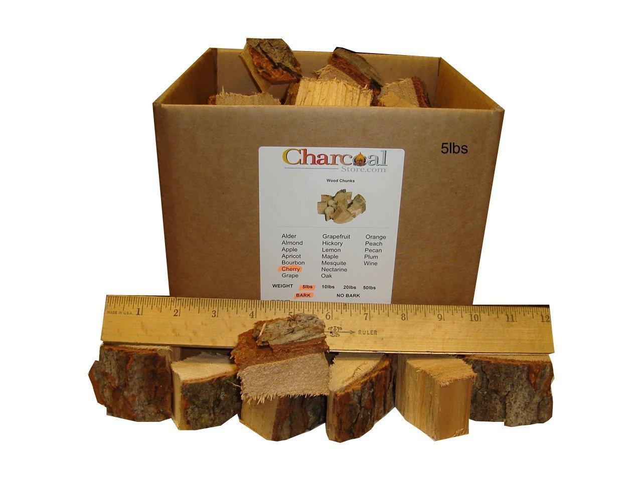CharcoalStore Cherry Smoking Wood Chunks - Bark (10 Pounds)