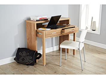 Charming Regis Extending Desk / Console Table   Oak
