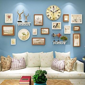 Amazon.com: GouuoHi - Marco de fotos para pared, diseño de ...