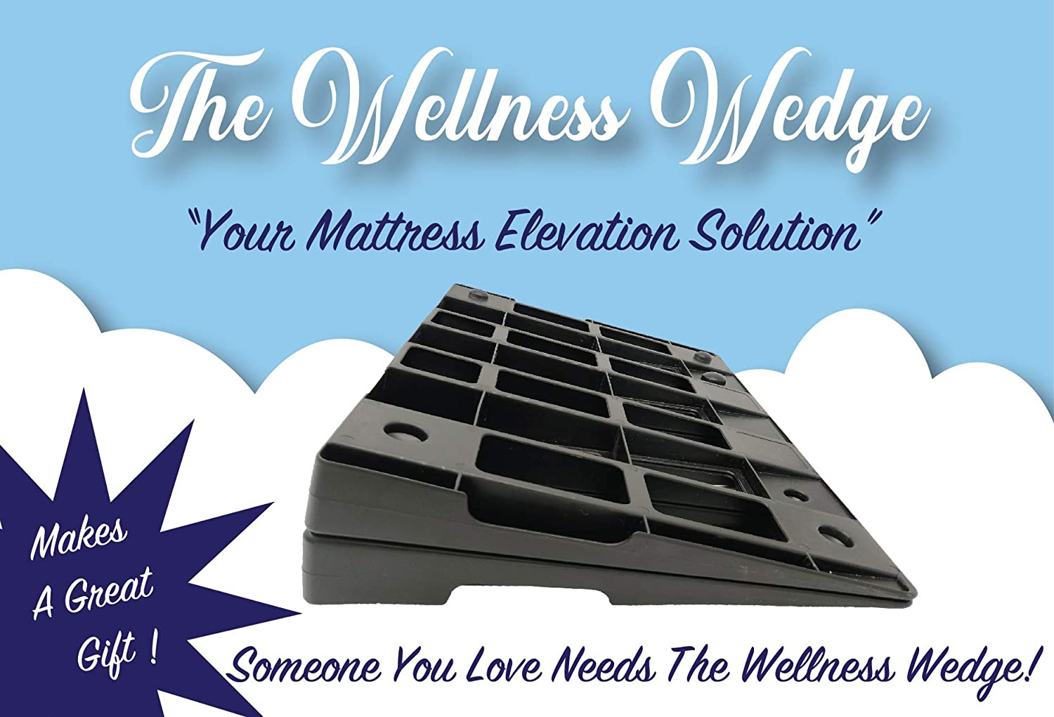 The Wellness Wedge Your Mattress Elevation Solution; Two Pack of Plastic Wedges: Home & Kitchen