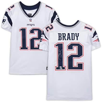 reputable site 6d50d 05751 Tom Brady New England Patriots Autographed White Elite ...