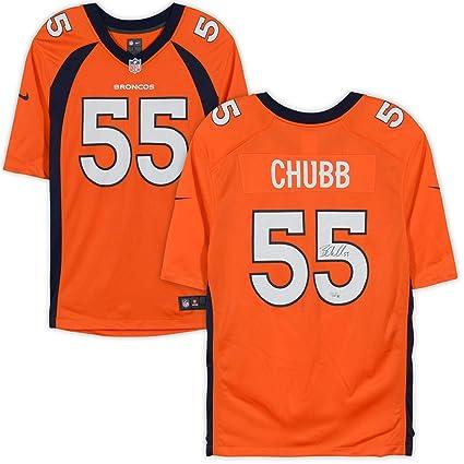 buy popular 4297c 0437f Bradley Chubb Denver Broncos Autographed Nike Orange Limited ...