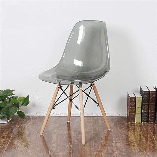Bianco Lotto di 4 Scandinavian Transparent Chair Chair Dining Chair Sedia in policarbonato Sedia Trasparente Semplice e conveniente