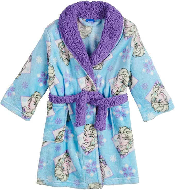 Pegasus Baby Girls Fleece Snowflake Robe Violet Lavender Blue 32889-9-12Months