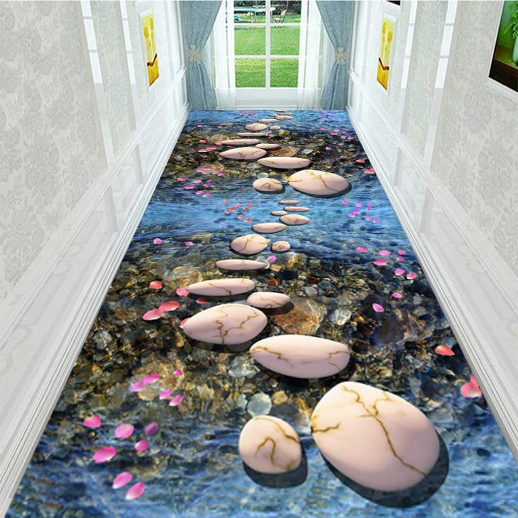 Farbe : A, gr/ö/ße : 1mx1m Tagungsraum Mall Treppen Gang Rutschfeste Bodenmatte Moderne Wohnzimmer Wohnkultur Hochzeit Teppich L/äufer Anpassbar YXNN 3D-Korridor Teppich