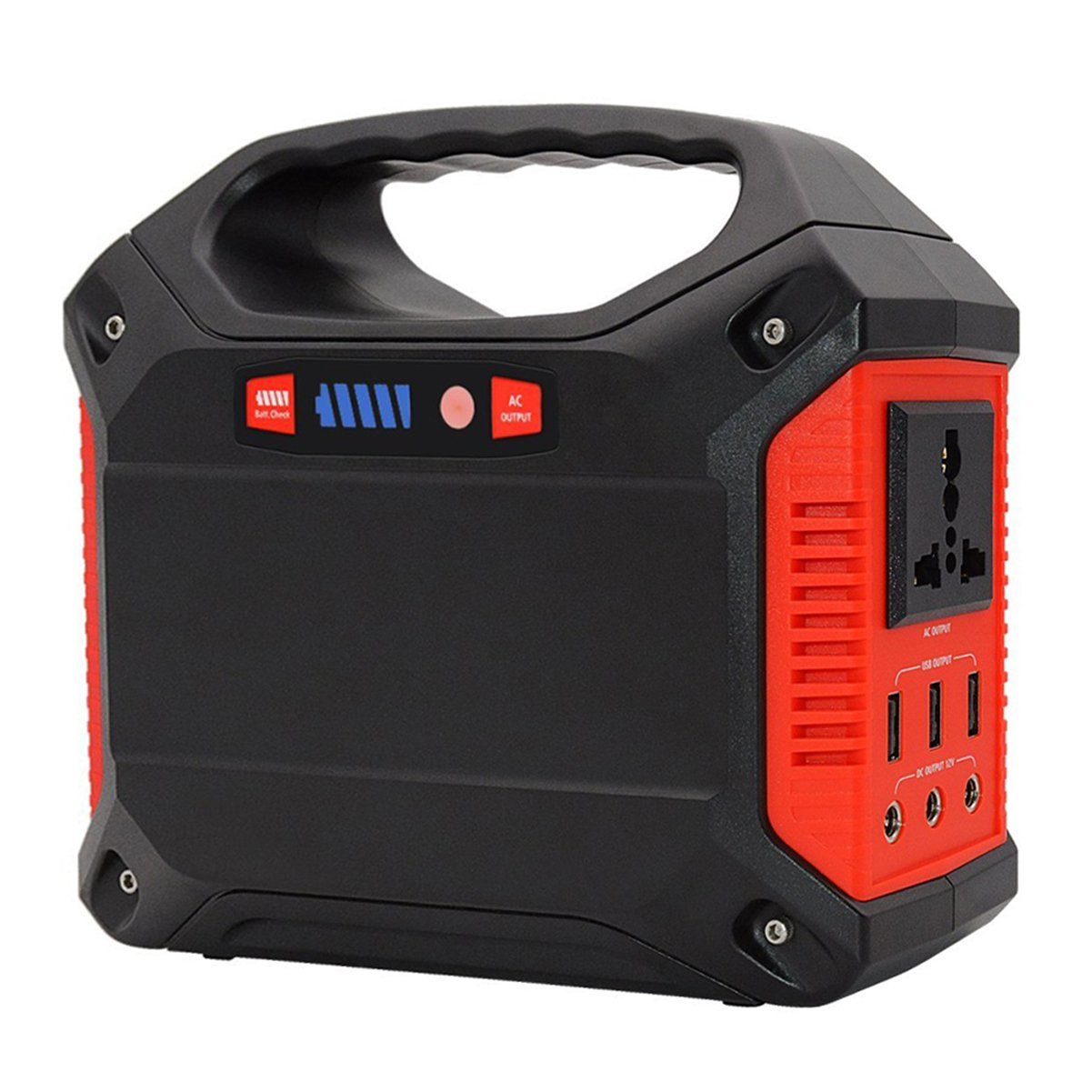 Portable Generator Power Inverter 42000mAh 155Wh Rechargeable Battery Pack Emergency Power Supply for Outdoor Camping Home Charged by Solar Panel Wall Outlet Car with 110V AC Outlet 3 DC 12V USB Port by ISUNPOW