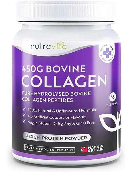 Colágeno Bovino puro Hidrolizado en Polvo 100% Natural - 450g de ...