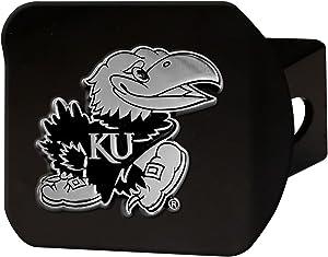 University of Kansas Black Metal Hitch Cover