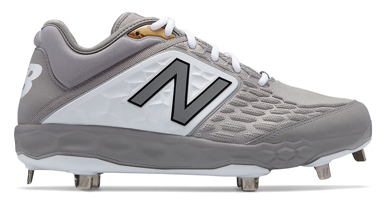 New Balance Men's 3000v4 Baseball Shoe B075R74VB4 15 2E US|Grey/White