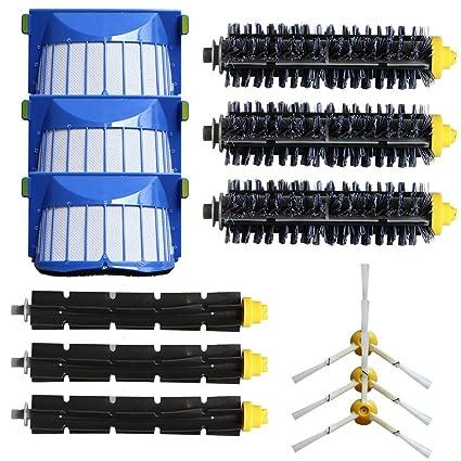 Accesorios para Aspiradoras Kit de Reemplazo Kit de 3 filtros de cepillo lateral armado para iRobot