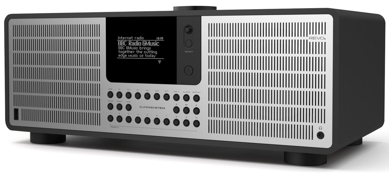 REVO SuperSystem Multi Format Premium Audio System - Black/Silver by REVO Technologies