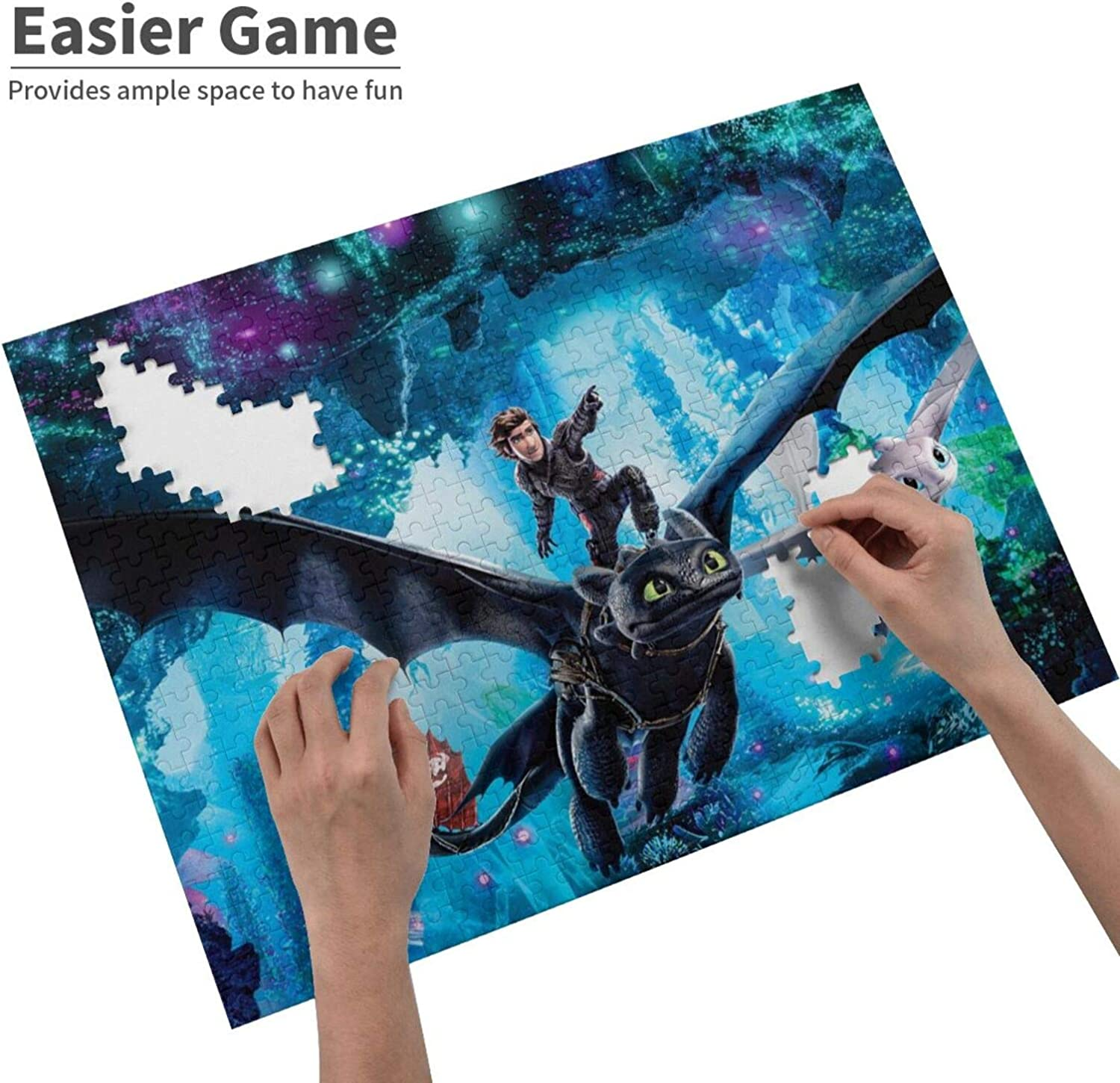 How to Train Your Dragon Jigsaw Puzzles 500 Piece Puzzle Games for Adults Kids
