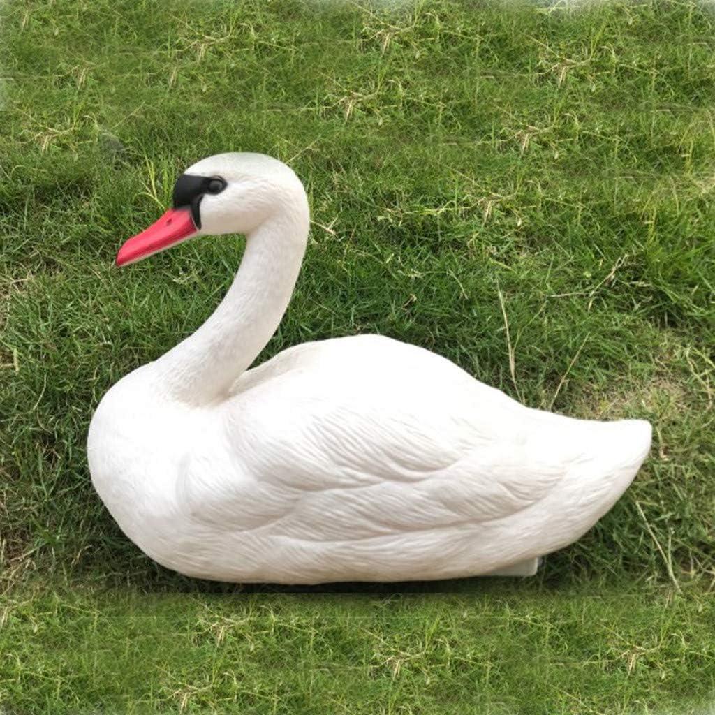 2x Realistic Swan Decoy Toy Fake Bird Figurine Floating Ornament Decoy