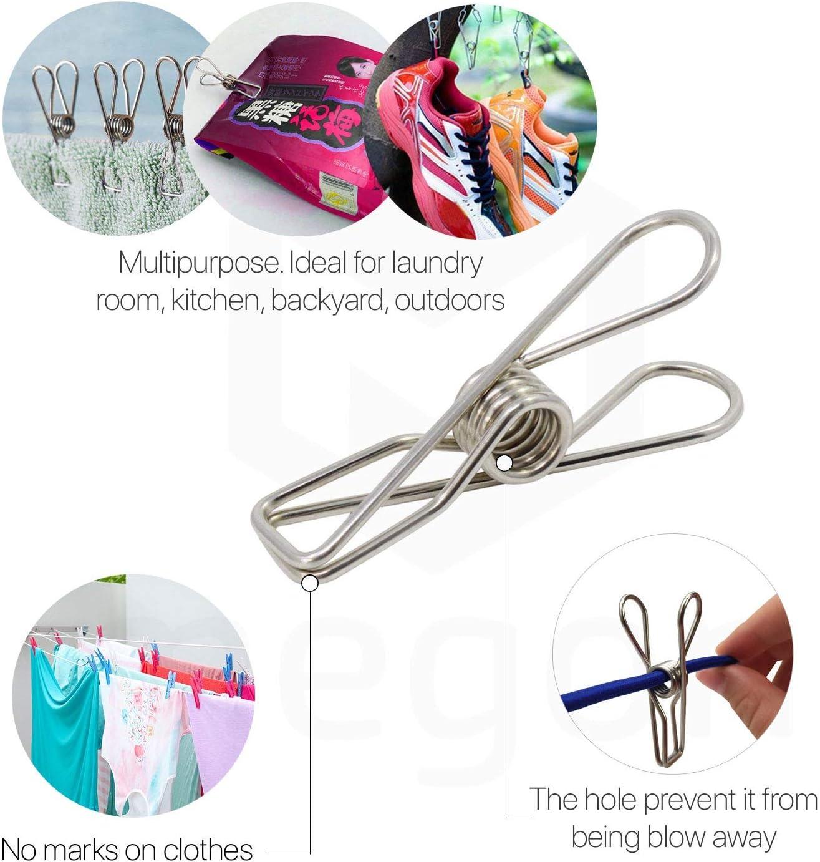 DSstyles Pinzas para la ropa 6 Piezas Clavijas de pl/ástico Pinzas para la ropa port/átil Clavijas de lavander/ía para trajes Percha Pinzas para la ropa con cuerda