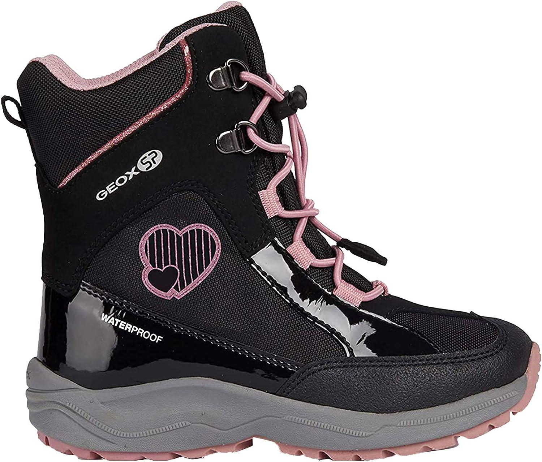 Geox Girls New Alaska 2 Waterproof Boot LACE//Zip blk