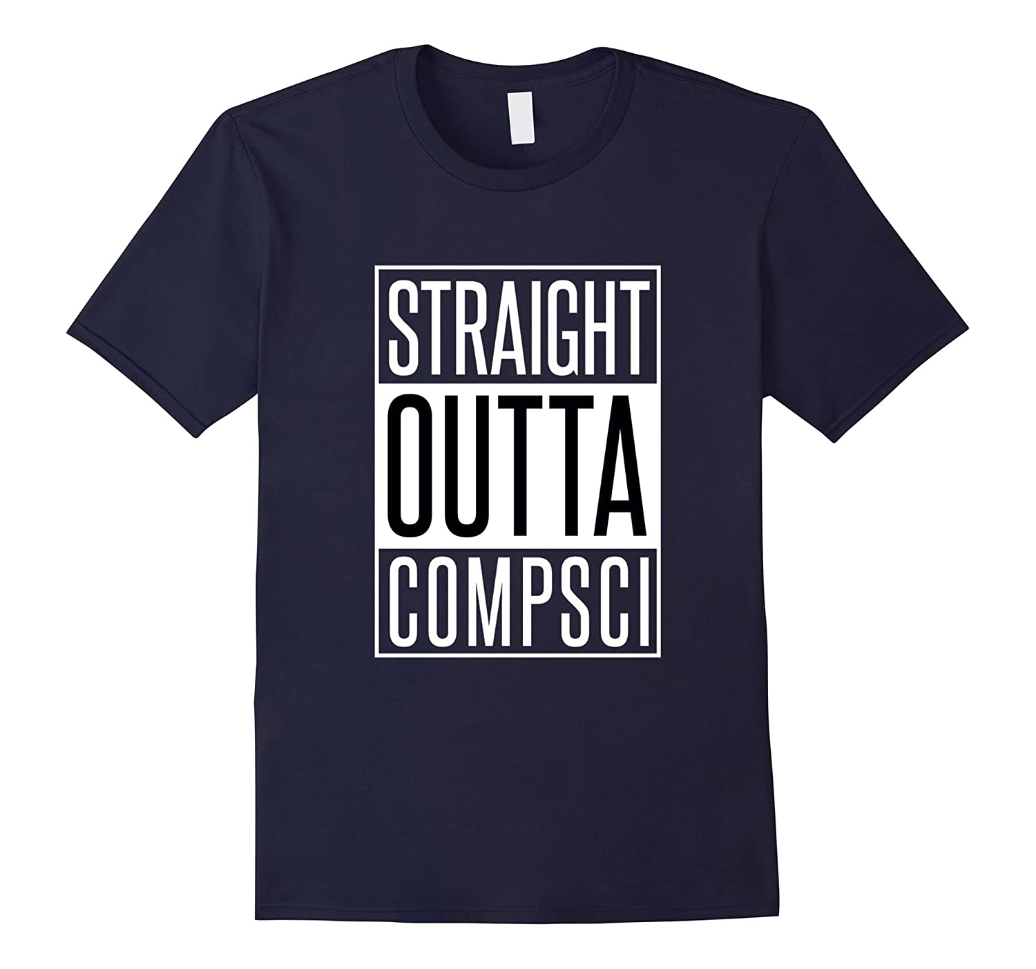 Computer Science Tshirt - Straight Outta Comp Sci Parody-Vaci