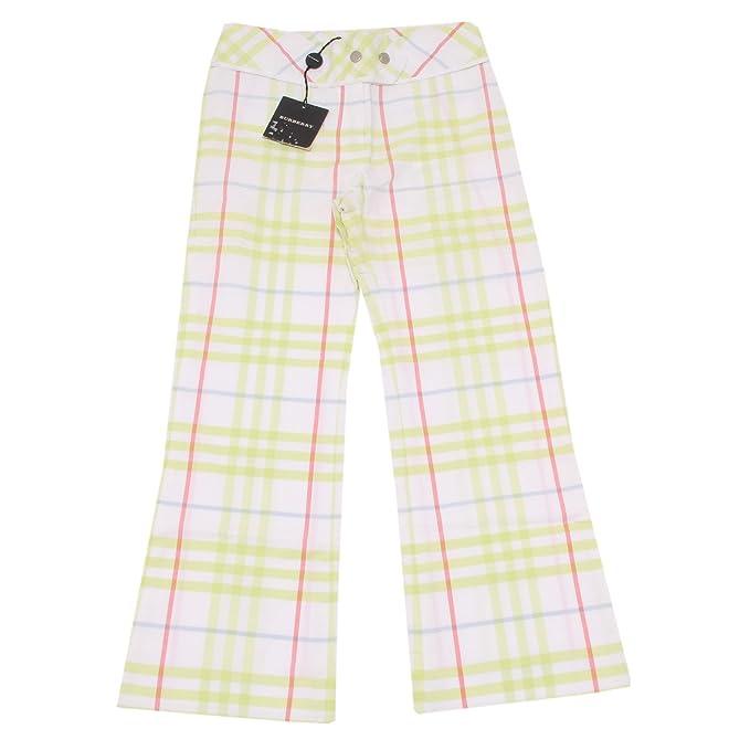 1453P pantaloni bimba BURBERRY check kids children pants trousers [6 YEARS]