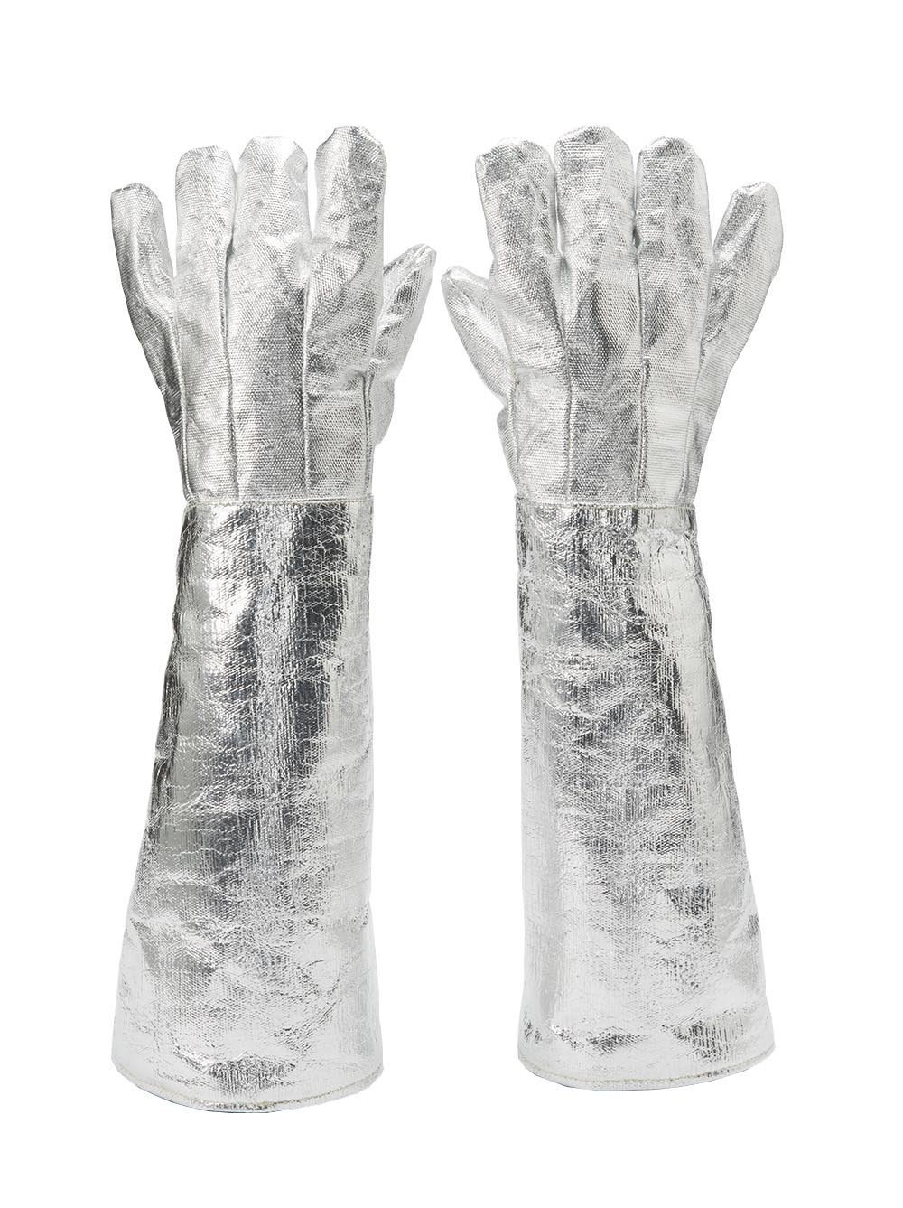 X-sunshine 55CM/21.6-inch Safety Aluminized Carbon Heat Resistant Glove Welding Work Protection Long Gloves Oven (Large-21.6'')