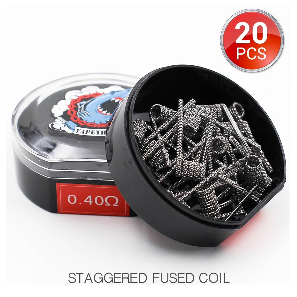20 Stü ck vorkompilierte Draht,Clapton Coils Heating Wire, AWG(24GA + 32GA) 0.5ohm Vapethink