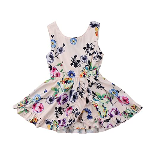 4e047fb3214 Hotwon Baby Kid Girls Clothing Dress Romper Jumpsuit Sleeveless Cute Flower  Party Tutu Dresses Romper Clothes