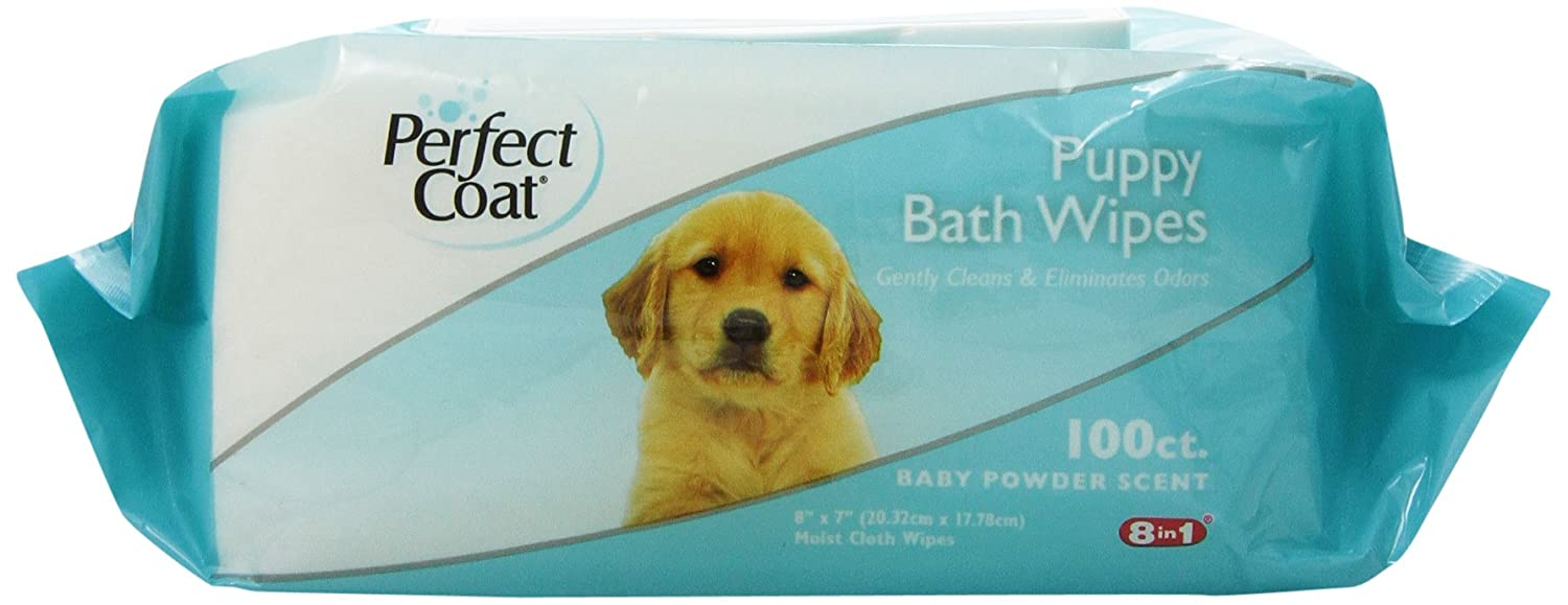 8in1 Perfect Coat Bath Wipes Tub