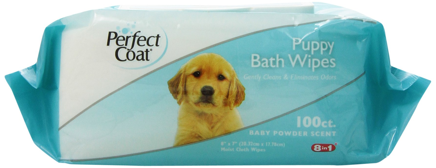 8in1 Perfect Coat Bath Wipes, Puppy, 100-Count