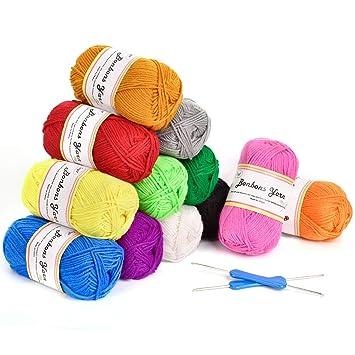 Fuyit Häkelgarn 600g 12x50g Wolle Zum Stricken Acryl Wolle Set