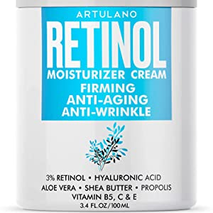 Anti-Aging Face Moisturizer for Women and Men - Lifting and Firming Effect - Natural Anti-Wrinkle Cream for Face and Neck- Made in the Usa - Day and Night Retinol Cream for Face for Ultimate Hydration